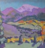 <em>Aspen with Purple Mountains</em>