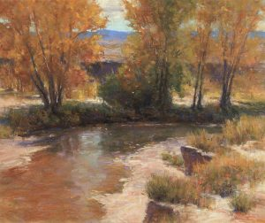 Indian Summer, pastel by Lorenzo Chavez
