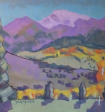 <em>Aspen with Purple Mountains</em>