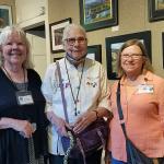 LEFT TO RIGHT:   Kris Olson;  Sue Tormoen and Founding Member Judy Steininger