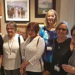 L to R: Margot Ardourel (PPPS Treasurer), Connie Cassani-Beard (PPPS Secretary), Deborah Mohler, Betsy Cook, Susan Morello and Liz Lueth.