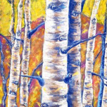 Aspens in Gold and Blue