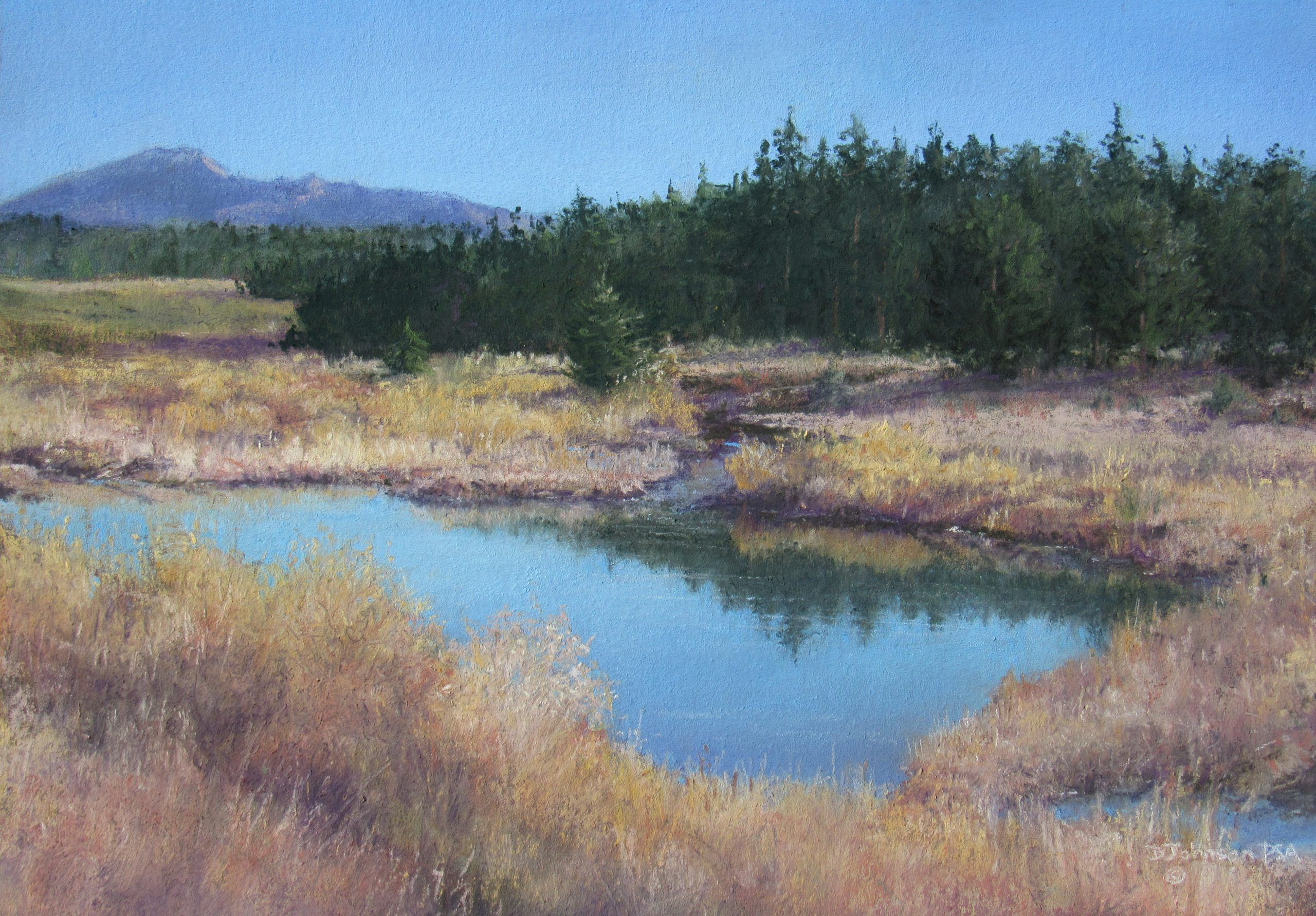 Quiet Moment — Pikes Peak, North Face, a pastel painting by Becky Johnson